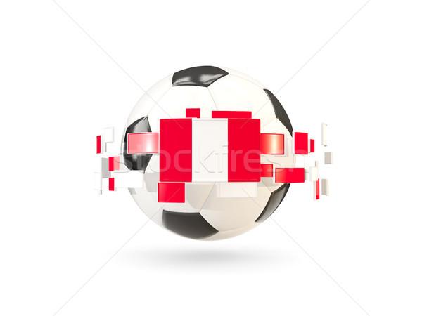 Balón de fútbol línea banderas bandera Perú Foto stock © MikhailMishchenko