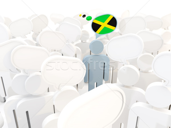 Man with flag of jamaica in a crowd Stock photo © MikhailMishchenko