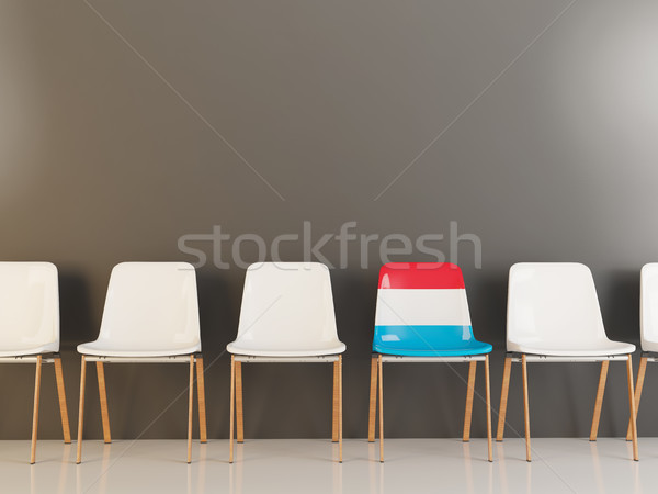 Chair with flag of luxembourg Stock photo © MikhailMishchenko