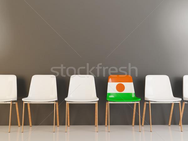 Silla bandera Níger blanco sillas Foto stock © MikhailMishchenko