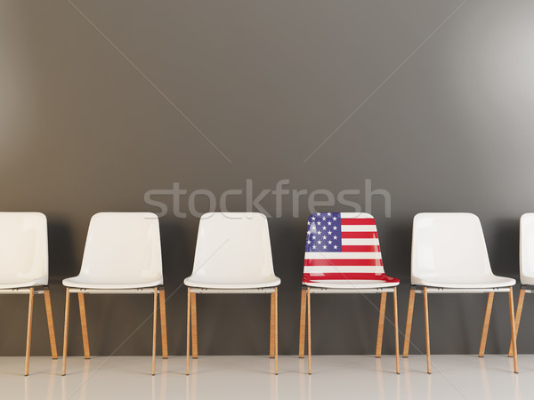 Chair with flag of united states of america Stock photo © MikhailMishchenko
