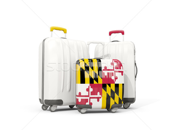 Luggage with flag of maryland. Three bags with united states loc Stock photo © MikhailMishchenko