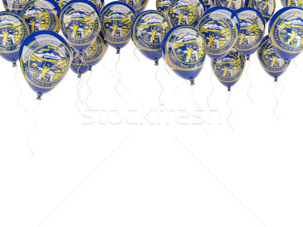 Ballonnen frame vlag Nebraska Verenigde Staten lokaal Stockfoto © MikhailMishchenko