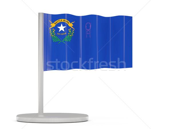 Bandeira pin Nevada Estados Unidos local bandeiras Foto stock © MikhailMishchenko