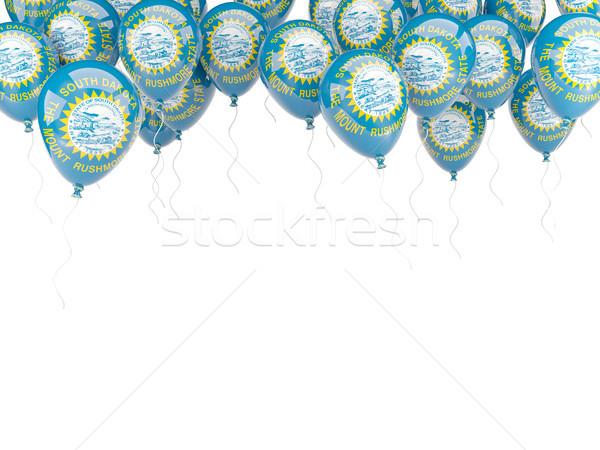 Léggömbök keret zászló Dél-Dakota Egyesült Államok helyi Stock fotó © MikhailMishchenko