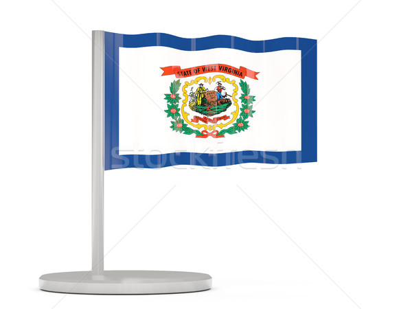 Flag pin with flag of west virginia. United states local flags Stock photo © MikhailMishchenko