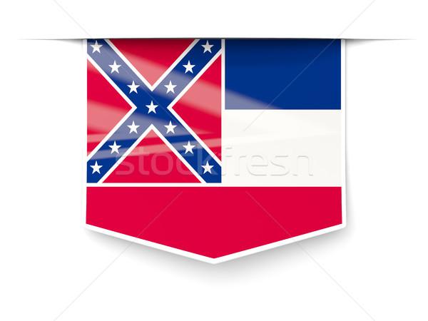Mississipi bayrak kare etiket gölge Amerika Birleşik Devletleri Stok fotoğraf © MikhailMishchenko
