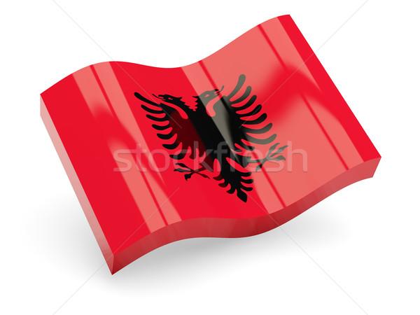 3d flag of Albania Stock photo © MikhailMishchenko