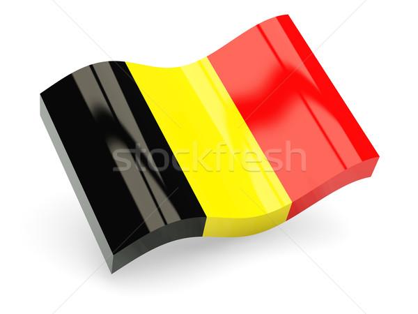 3D bandera Bélgica aislado blanco viaje Foto stock © MikhailMishchenko