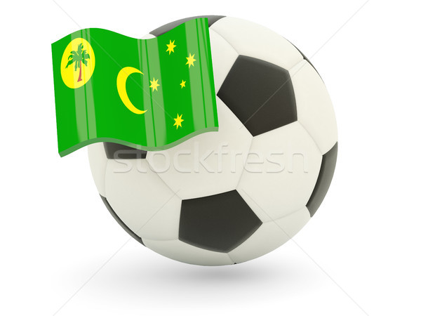 Football with flag of cocos islands Stock photo © MikhailMishchenko