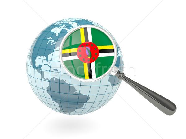 Zdjęcia stock: Banderą · Dominika · niebieski · świecie · odizolowany