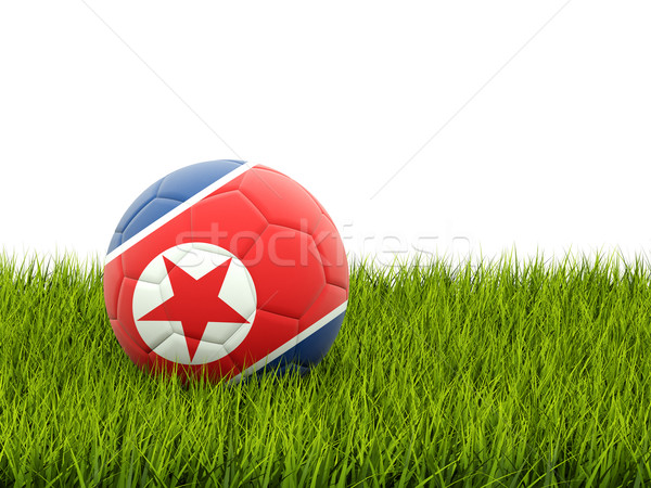 Football with flag of korea north Stock photo © MikhailMishchenko