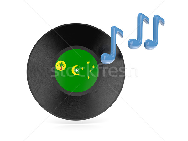 Vinyl disk with flag of cocos islands Stock photo © MikhailMishchenko