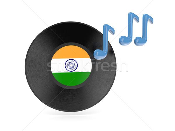 виниловых диск флаг Индия изолированный белый Сток-фото © MikhailMishchenko