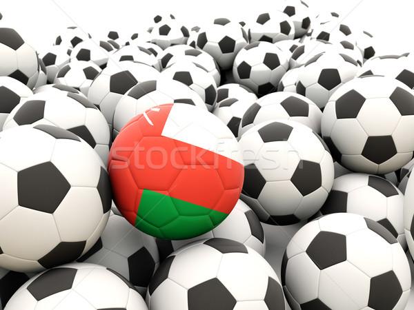 Futball zászló Omán rendszeres golyók nyár Stock fotó © MikhailMishchenko