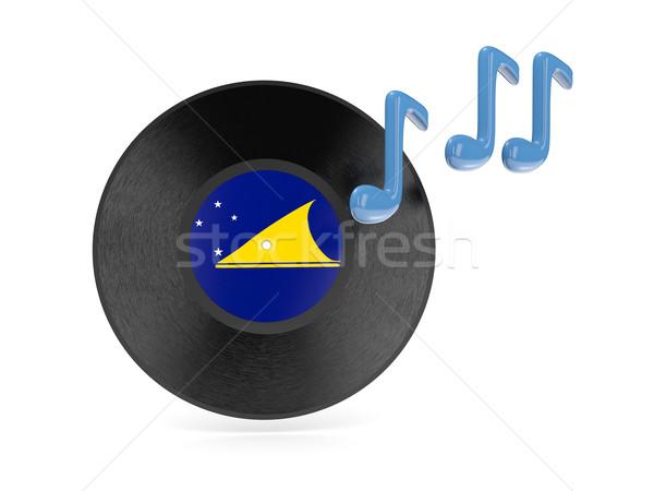 виниловых диск флаг изолированный белый черный Сток-фото © MikhailMishchenko