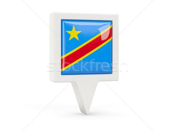 Kare bayrak ikon demokratik cumhuriyet Kongo Stok fotoğraf © MikhailMishchenko