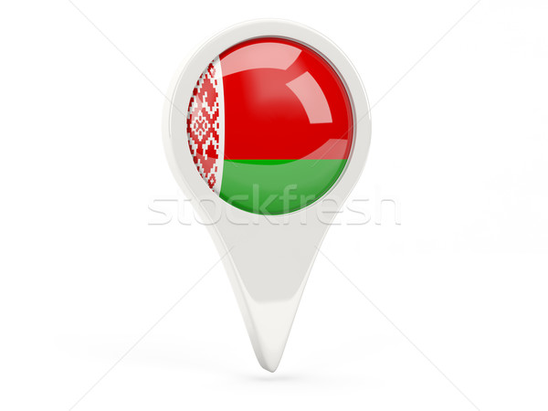 Vlag icon Wit-Rusland geïsoleerd witte kaart Stockfoto © MikhailMishchenko