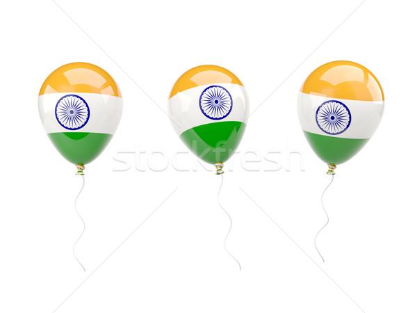 Air balloons with flag of india Stock photo © MikhailMishchenko