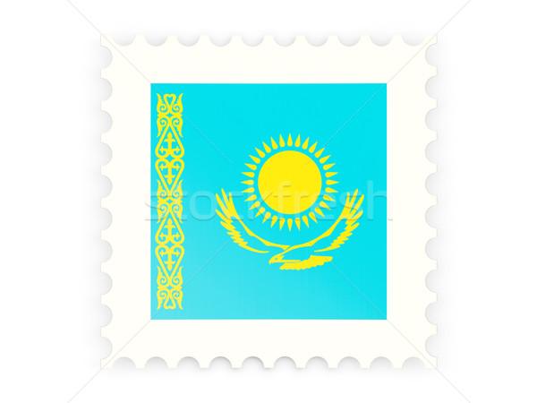 почтовая марка икона Казахстан изолированный белый знак Сток-фото © MikhailMishchenko
