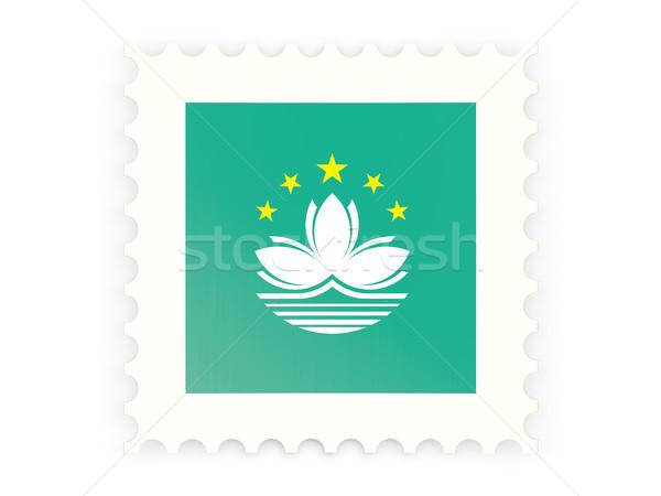 Postage stamp icon of macao Stock photo © MikhailMishchenko
