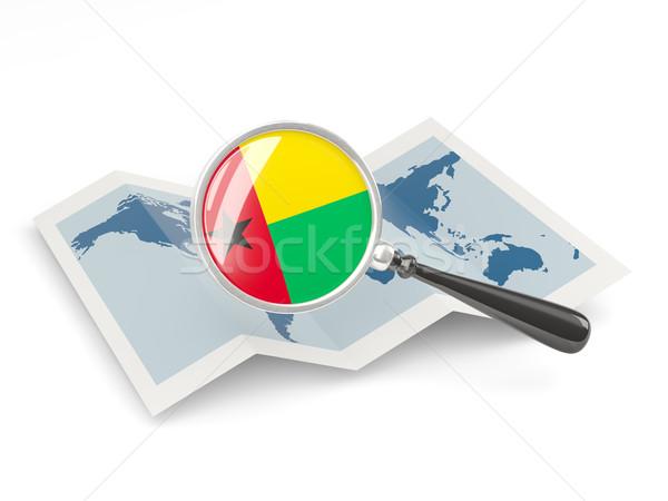 Banderą Gwinea Pokaż biały Zdjęcia stock © MikhailMishchenko