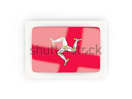 Round button with flag of isle of man Stock photo © MikhailMishchenko
