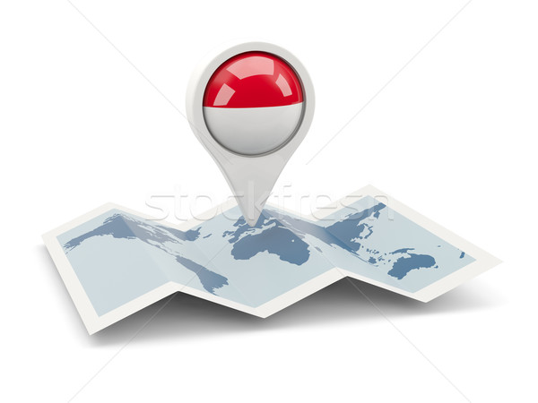 Pin флаг Монако карта путешествия белый Сток-фото © MikhailMishchenko