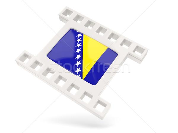 Película icono bandera Bosnia Herzegovina aislado blanco Foto stock © MikhailMishchenko