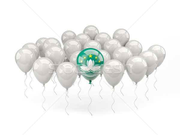 Air balloons with flag of macao Stock photo © MikhailMishchenko