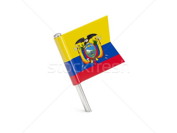 флаг Pin Эквадор изолированный белый Сток-фото © MikhailMishchenko