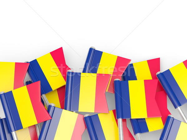 Flag pin of chad Stock photo © MikhailMishchenko