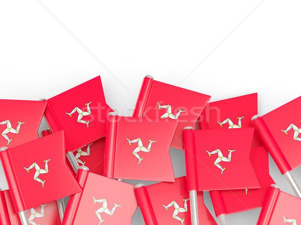 Flag pin of isle of man Stock photo © MikhailMishchenko