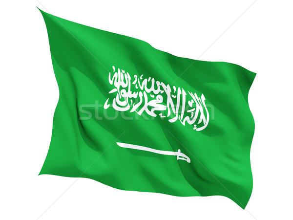 Integet zászló Szaúd-Arábia izolált fehér Stock fotó © MikhailMishchenko