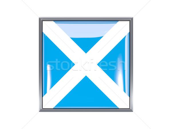 Piazza icona bandiera Scozia metal frame Foto d'archivio © MikhailMishchenko