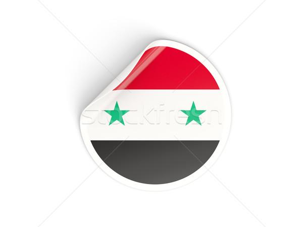 Sticker vlag Syrië geïsoleerd witte reizen Stockfoto © MikhailMishchenko