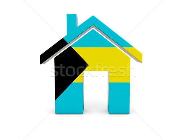 Home with flag of bahamas Stock photo © MikhailMishchenko