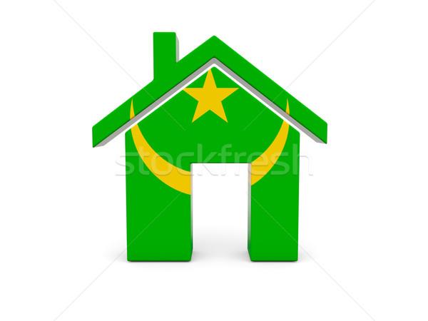 Home with flag of mauritania Stock photo © MikhailMishchenko