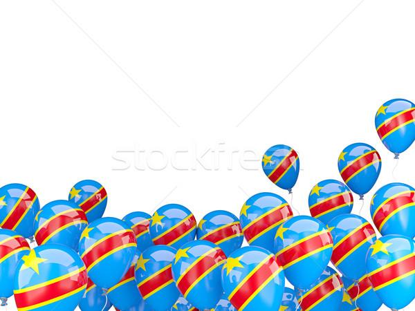 飛行 風船 フラグ 民主的な 共和国 コンゴ ストックフォト © MikhailMishchenko