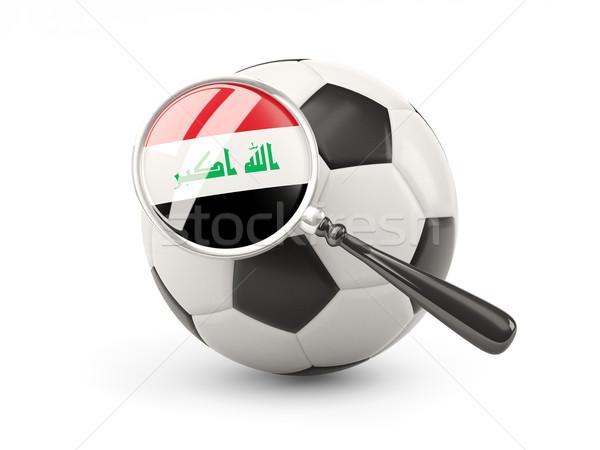 Futebol bandeira Iraque isolado branco Foto stock © MikhailMishchenko