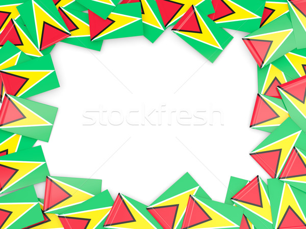 Frame vlag Guyana geïsoleerd witte Stockfoto © MikhailMishchenko