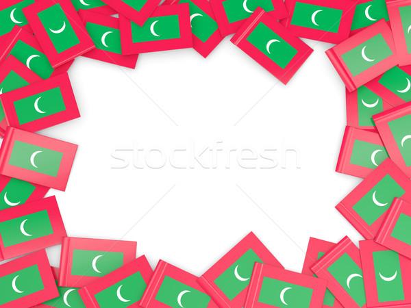 кадр флаг Мальдивы изолированный белый Сток-фото © MikhailMishchenko