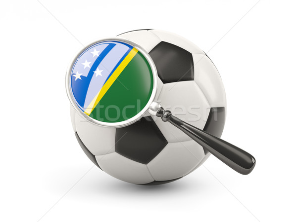 Football with magnified flag of solomon islands Stock photo © MikhailMishchenko