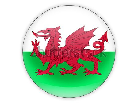 Round icon with flag of wales Stock photo © MikhailMishchenko