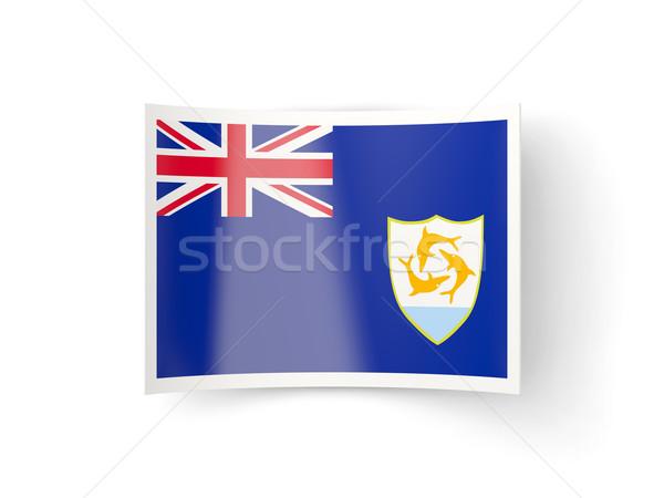 Bent icon with flag of anguilla Stock photo © MikhailMishchenko