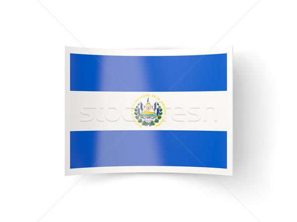 Bent icon with flag of el salvador Stock photo © MikhailMishchenko