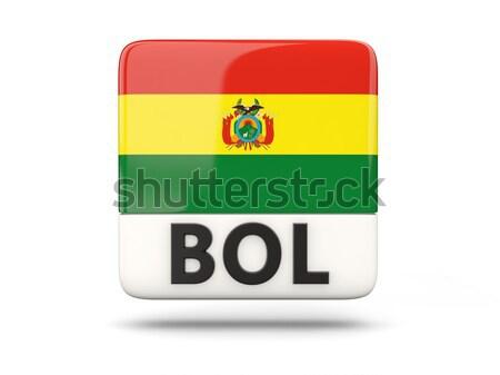 Szeretet Bolívia felirat izolált fehér zászló Stock fotó © MikhailMishchenko