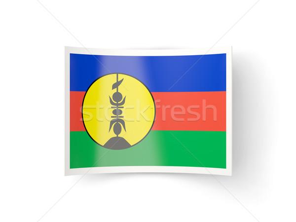Bent icon with flag of new caledonia Stock photo © MikhailMishchenko