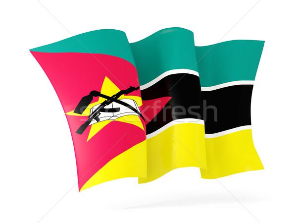 Bandeira Moçambique ilustração 3d isolado branco Foto stock © MikhailMishchenko