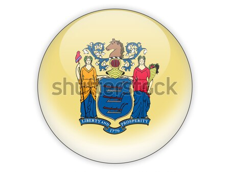 Flag of new jersey, US state square icon Stock photo © MikhailMishchenko